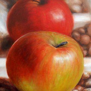 Stilleben Äpfel von Klaus Riefer