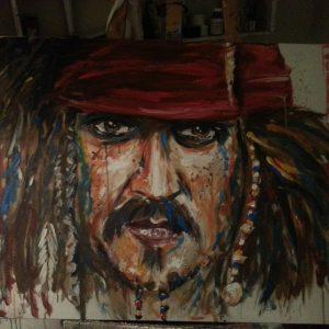 Gemälde Jack Sparrow von Klaus Riefer
