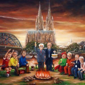 Gemälde Köln Dom von Klaus Riefer